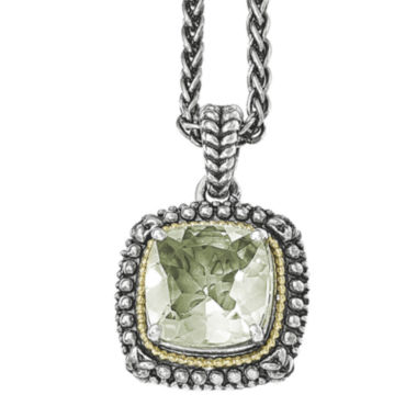 jcpenney.com | Shey Couture Genuine Green Quartz  Sterling Silver Pendant Necklace
