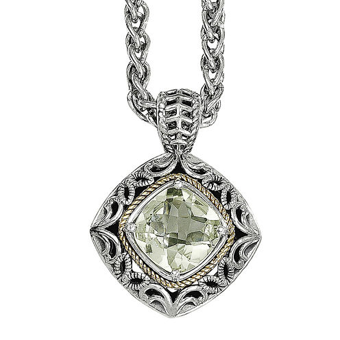 Shey Couture Genuine Quartz Sterling Silver Pendant Necklace