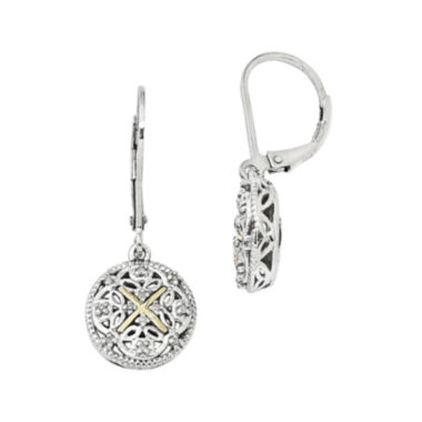 jcpenney.com | Shey Couture 1/8 CT. T.W. Diamond 14K Sterling Silver Vintage-Look Earrings