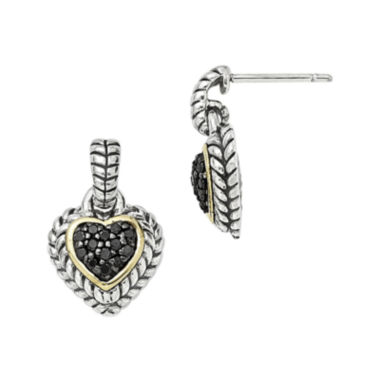 jcpenney.com | Shey Couture 1/4 CT. T.W. Color-Enhanced Black Diamond Sterling Silver Earrings