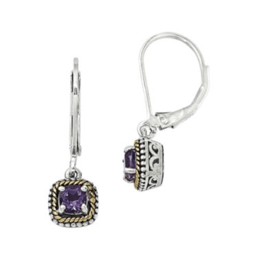 jcpenney.com | Shey Couture Genuine Amethyst Sterling Silver and 14K Gold Earrings