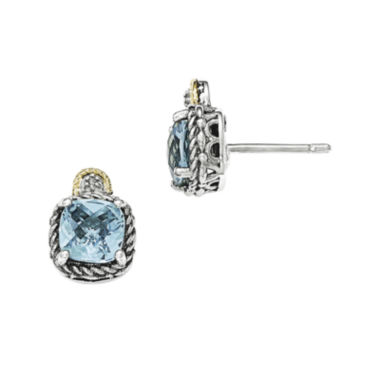 jcpenney.com | Shey Couture Genuine Swiss Blue Topaz and Diamond-Accent Earrings