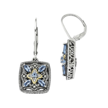 jcpenney.com | Shey Couture Genuine Blue Topaz and Diamond-Accent Sterling Silver 14K Gold Earrings