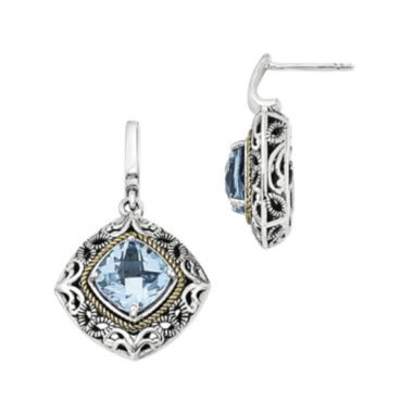 jcpenney.com | Shey Couture Genuine Blue Topaz Sterling Silver 14k Gold Earrings