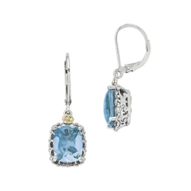 jcpenney.com | Shey Couture Blue Topaz Sterling Silver and 14K Yellow Gold Earrings