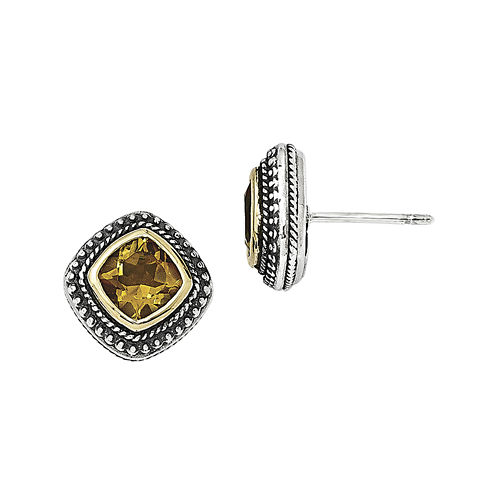 Shey Couture Genuine Citrine Sterling Silver Earrings