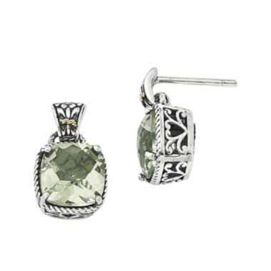 jcpenney.com | Shey Couture Green Quartz Sterling Silver Antiqued Earrings