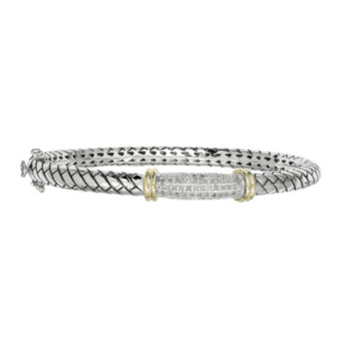 jcpenney.com | Shey Couture 1/5 CT. T. W. Diamond Sterling Silver Bangle Bracelet