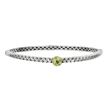 jcpenney.com | Shey Couture Sterling Silver Genuine Peridot Bangle Bracelet