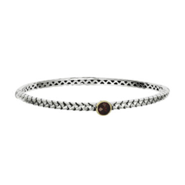 jcpenney.com | Shey Couture Sterling Silver Genuine Garnet Bangle Bracelet