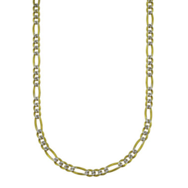 "jcpenney.com | LIMITED QUANTITIES! 10k Gold Two-tone Hollow Figaro 18"" Chain Necklace"