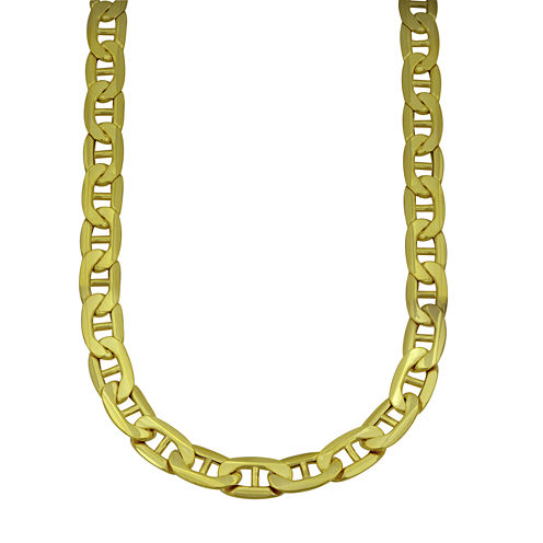 """LIMITED QUANTITIES! 10k Yellow Gold Hollow Mariner 22"""" Chain Necklace"""