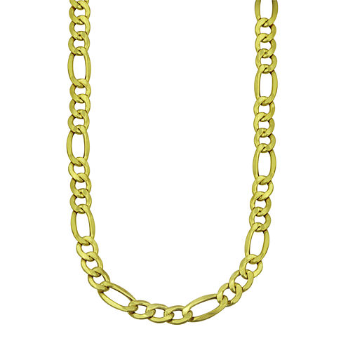 "LIMITED QUANTITIES! 10k Yellow Gold Hollow Figaro 22"" Chain Necklace"