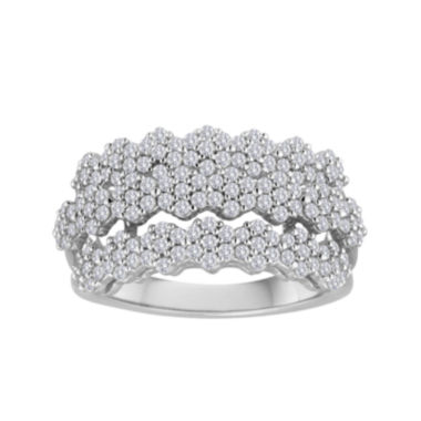 jcpenney.com | diamond blossom 1 CT. T.W. Diamond Ring in Sterling Silver