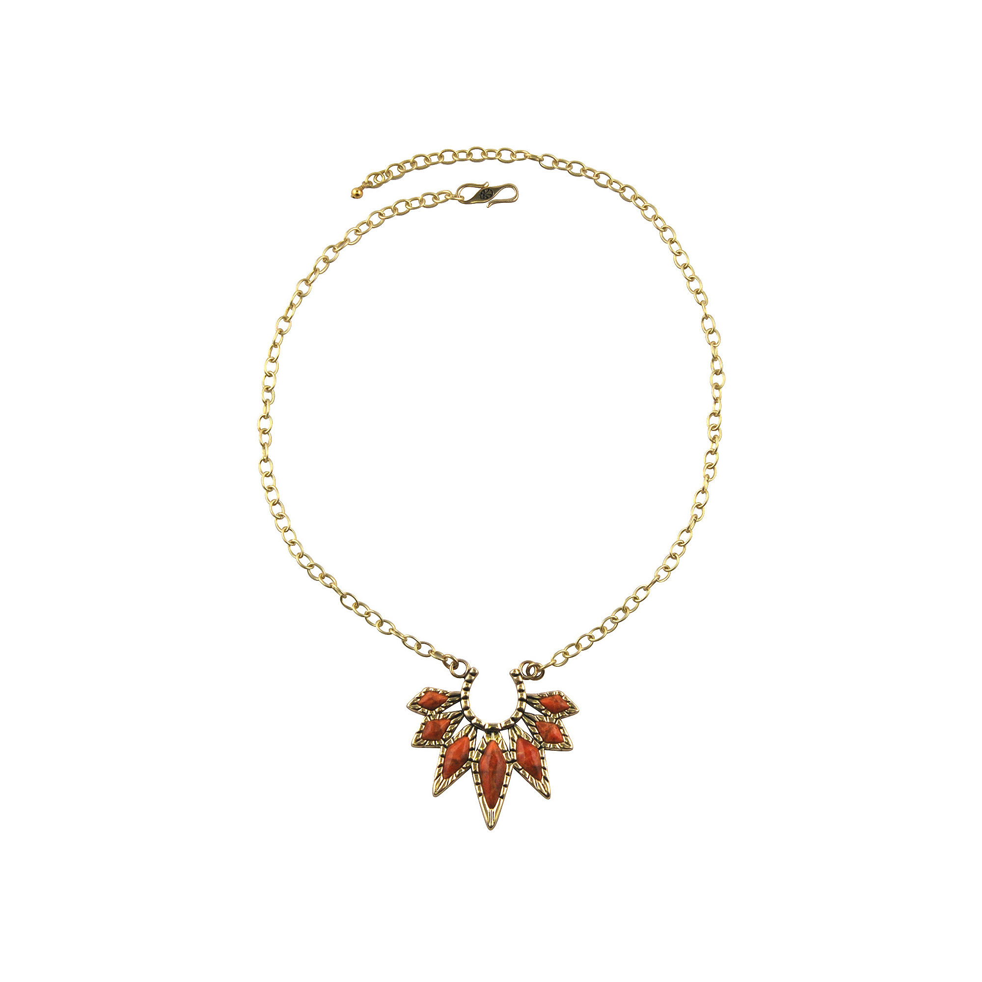 Artsmith By Barse Womens Orange Pendant Necklace