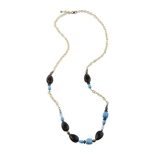 Art Smith by BARSE Multi-Stone Brass Necklace