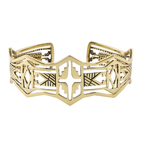 Art Smith by BARSE Brass Cutout Cuff Bracelet