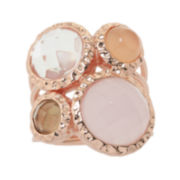 ATHRA Pink and Brown Four-Stone Cocktail Ring
