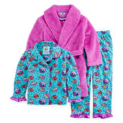 Bunz Kids 3-pc. Cupcake Pajamas and Robe - Girls 7-12