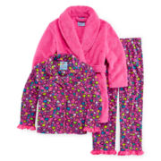 Bunz Kids 3-pc. Heart Pajamas and Robe - Girls 7-12