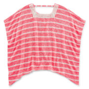 Arizona Square-Neck Poncho - Girls 7-16 and Plus
