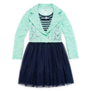 Knit Works Moto Jacket and Dress - Girls 7-16 and Plus