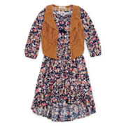 Kandy Kiss Dress and Fringe Vest - Girls 7-16