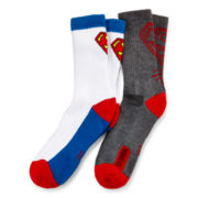 2-pk. Superman Athletic Crew Socks - Boys
