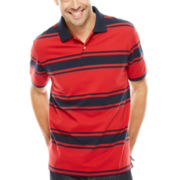 St. John's Bay® Short-Sleeve Striped Legacy Piqué Polo
