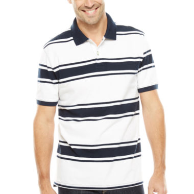 jcpenney.com | St. John's Bay® Short-Sleeve Striped Legacy Piqué Polo