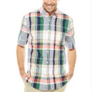 St. John's Bay® Short-Sleeve Button-Front Shirt