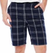 St. John's Bay® Printed Flat-Front Shorts