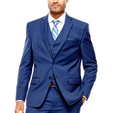 jcpenney.com | Collection by Michael Strahan Blue Herringbone Suit Jacket - Classic Fit