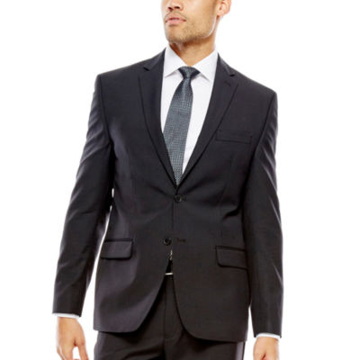 Collection by Michael Strahan Striped Black Suit Jacket - Classic ...