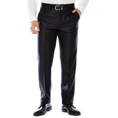 JF J. Ferrar® Black Shimmer Flat-Front Suit Pants -Slim Fit