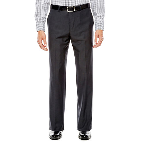 Collection by Michael Strahan Mini-Herringbone Flat-Front Suit Pants - Classic Fit