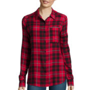 Arizona Long-Sleeve Oversized Plaid Shirt