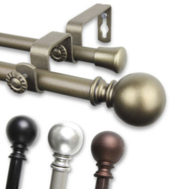"jcpenney.com | Luna ⅝"" Adjustable Curtain Rod Collection"