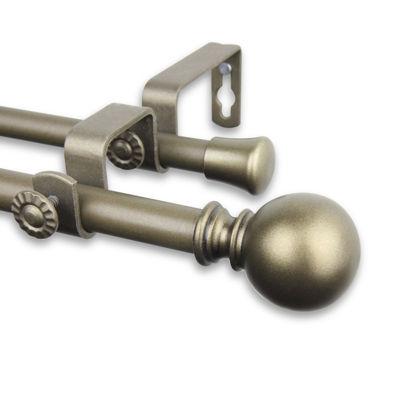 """Rod Desyne Luna ⅝"""" Adjustable Double Curtain Rod"""