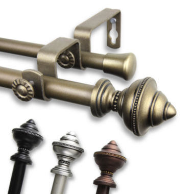 "jcpenney.com | Rod Desyne Palace ⅝"" Adjustable Curtain Rod Collection"