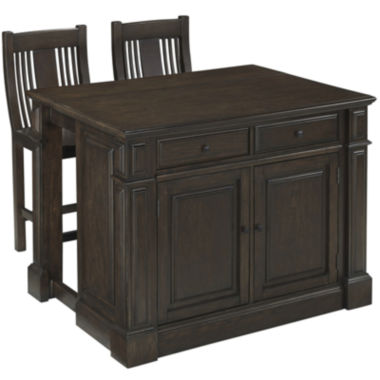 jcpenney.com | Barnsley Kitchen Island with 2 Barstools