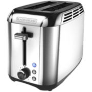 Black+Decker Stainless Steel Rapid 2-Slice Toaster