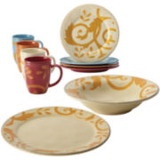 Rachael Ray® Gold Scroll Cream Assorted 10-pc. Serving Set