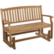 Callahan Outdoor Teak Glider Bench