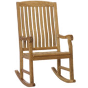 Finnigan Outdoor Teak Porch Rocker