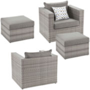 Atlantis 4-pc. Outdoor Seating Set