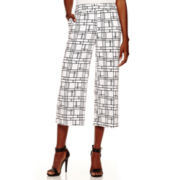 Worthington® Wide-Leg Cropped Pants - Tall