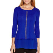 Worthington® Long-Sleeve Embellished Sweater