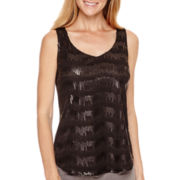 Worthington® Sleeveless Sequin Top