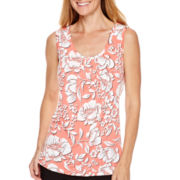 Worthington® Sleeveless Draped-Front Top